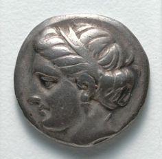 Drachma: Female Head (obverse), c. 369-336 BC Greece, 4th Century BC