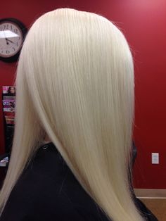 Platinum blond Paula Tracy Hair Designs