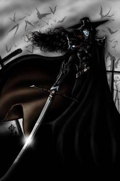 D within the graveyard by kheelan on DeviantArt Medieval Fantasy, Dark Fantasy, Fantasy Art, Vampire Hunter D, Demon Hunter, Fight The Good Fight, Aesthetic Images, Werewolf, Strand