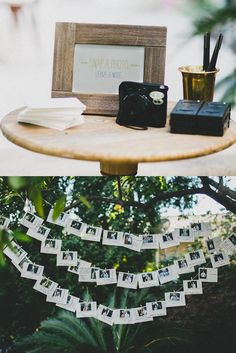 Guests took polaroids as they arrived and hung them up with a personal note. We've since turned this into a little photo album :) #wedding #mydear