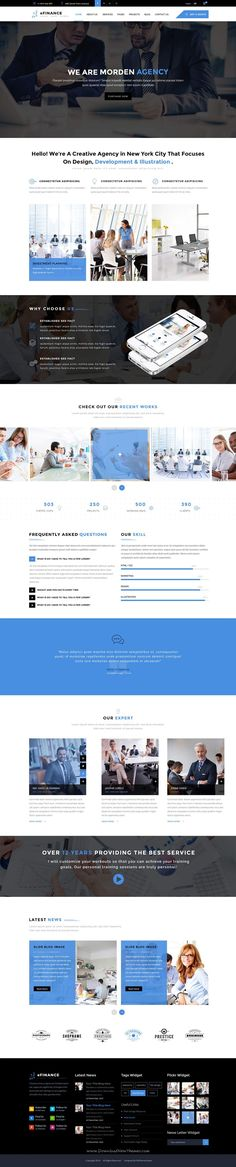 eFinance is perfect #PSD #template for corporate website like #adviser, attorney, business, corporate accountant, finance etc. Download Now!