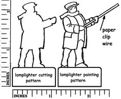 """View topic - Making a """"Lamplighter Flattie"""". Christmas Crafts, Xmas, Putz Houses, Glitter Houses, Christmas Villages, Pattern Cutting, Jumping Jacks, Paper Houses, Painting Patterns"""