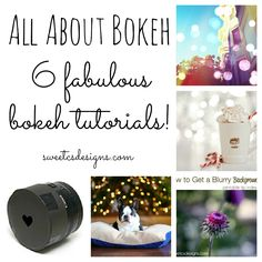 We're almost back to normal over here after a long week- and this week is going to be full of amazing photography tips and tricks! To kick off this week right, I am rounding up some of my favorite tutorials devoted to bokeh- beautiful blurry backgrounds and fun shimmering lights. These tutorials will show you …