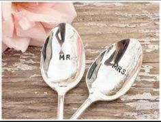 Know witch spoon is yours? A cute wedding piece that you can have for ever