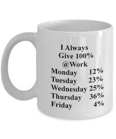workaholic mug  funny coffee mug  novelty coffee mug