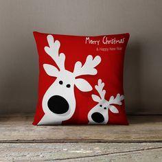 Weihnachten-Kissen | Kissen/Urlaub | Weihnachten-Kissen | Weihnachtsschmuck | Rentier-Dekorationen