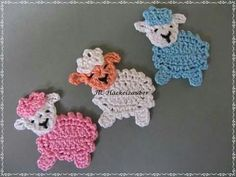 Schaf (freie Farbwahl) Sheep (free color choice) The post Sheep (free color choice) appeared first on Deco. Crochet Sheep, Easter Crochet, Cute Crochet, Crochet Crafts, Crochet Projects, Crochet Applique Patterns Free, Crochet Flower Patterns, Crochet Motif, Crochet Flowers