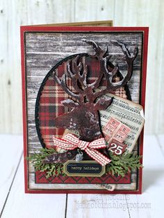 In My Own Imagination: A Dashing Deer Christmas Card
