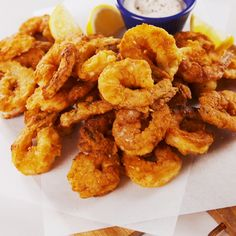 food recipies Snack on these crispy, crunchy Chicken Fried Shrimp from . Fried Shrimp Recipes, Fish Recipes, Seafood Recipes, Chicken Recipes, Dinner Recipes, Cooking Recipes, Deep Fried Shrimp, Food Shrimp, Breaded Shrimp