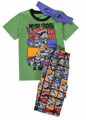 TEENAGE MUTANT NINJA TURTLES ~ Pyjamas & Headband Set