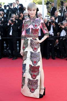 Cannes 2017: Every Red-Carpet Look  Li Yuchun in Gucci