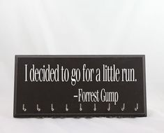 Running Medal Holder  Forrest Gump I by StrutYourStuffSignCo
