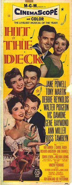 """HIT THE DECK"" (1955) JANE POWELL, TONY MARTIN, DEBBIE REYNOLDS"