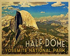 yosemite national park vintage poster - Google Search