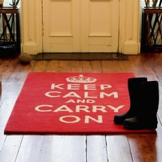 Keep Calm and Carry On Rug by mariana.ramire.o