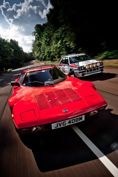 The stratos, sadly a car like it will never happen again.  Lancia Stratos & Delta HF Integrale