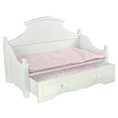 Olivia's Little World - Sweet Girl White Trundle Bed with Pink Floral Mettress     Dolls & Bears, Dolls, Furniture   eBay!