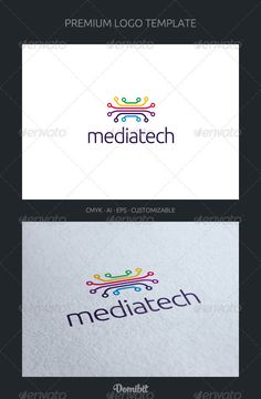Media Tech Logo Template  #GraphicRiver         Mediatech is a logo that can be used in media companies technologia developers, software and multimedia applications, multimedia web sites, among other uses. Its design is very simple and very easy to configure. Ready to print.     Customizable 100%   CMYK    AI – EPS    Font used Ubuntu      Created: 20April12 GraphicsFilesIncluded: VectorEPS #AIIllustrator Layered: Yes MinimumAdobeCSVersion: CS Resolution: Resizable Tags: Informatica #app…