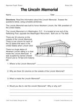 Facts and questions about the Lincoln Memorial