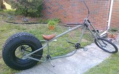 Military themed chopper bicycle. An Atomic Zombie Overkill style custom bike