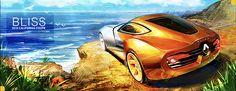 RENAULT BLISS - 2018 California Getaway Coupe by Stephen Chu, via Behance