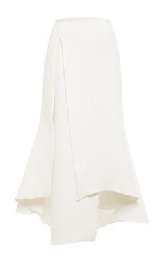 Olympia Asymmetric Crepe Midi Skirt by Ellery - Moda Operandi