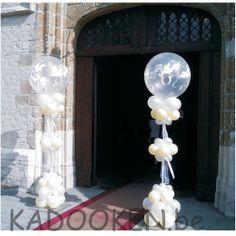 ballonzuilen, ballon pilonen, feestzaaldecoratie huwelijk, aankleding huwelijk, huwelijksfeest, trouwen, ballonnen, ballons, heliumballonnen, huwelijksballonnen,... www.kadooken.be