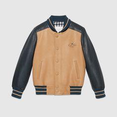 Gucci Children - Children's leather bomber jacket