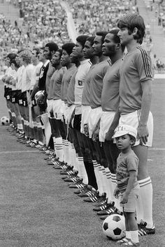 #WC1974: #Haïti with their lovely mascot.