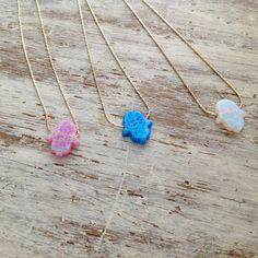 Opal necklace hamsa necklace hamsa opal necklace by Avnis on Etsy