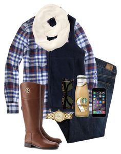 """""""♡"""" by evamstewart24 ❤ liked on Polyvore featuring American Eagle Outfitters, J.Crew, Vineyard Vines, Athleta and Tory Burch"""