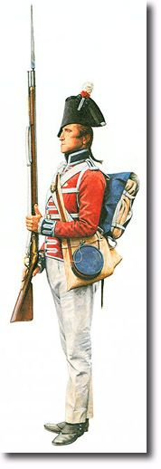 Private, 3rd Regiment of Foot Guards circa, 1799.