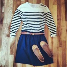 Navy,Nude & Stripes. toooo cute!