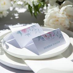 WINIETKA WIZYTÓWKA personalizowana Zapach Piwonii Maila, Place Cards, Container, Place Card Holders, Ornaments, Wedding, Products, Valentines Day Weddings, Christmas Decorations