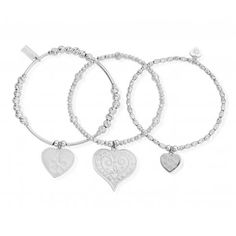 ChloBo Love Always Wins set of 3 bracelets - perfect to start your stack! Shop here: http://www.sarahlayton.co.uk/jewellery-c1/chlobo-chlobo-love-always-wins-set-of-3-bracelets-sbsta3h-p74568