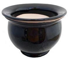 Self Watering Glazed Ceramic Pot plus Felt Feet - Black - 6 x House Plants For Sale, Plants For Sale Online, House Plant Delivery, Fruit Seeds, Self Watering Planter, Planting Bulbs, Glazed Ceramic, Felt, Ceramics