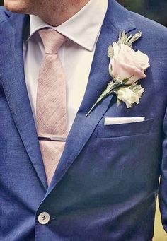 How to Pull Off Blush and Bashful If You're A Modern Day Steel Blue Suit Wedding, Tuxedo Wedding, Wedding Ties, Wedding Attire, Geek Wedding, Wedding Black, Wedding Outfits, Wedding Groom, Spring Wedding