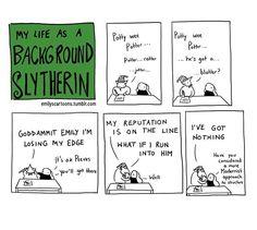 Sunday is for Slytherin #slytherin #backgroundslytherin #art #comic #poetry #harrypotter #modernism