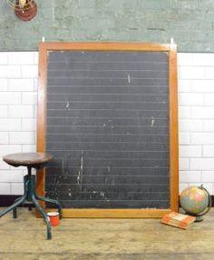 Vintage Industrial School Blackboard Chalkboard | Lovelitter.co.uk | Warehouse  Home Design Magazine