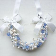 opal blue lucky wedding horseshoe something by AtelierRousseau