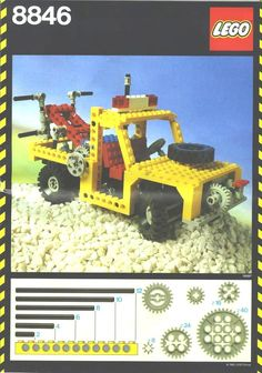The manual cover for LEGO Technic set 8846, the Tow Truck, from 1982