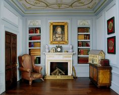 The Blue Room...with dollshouse by sweetington, via Flickr