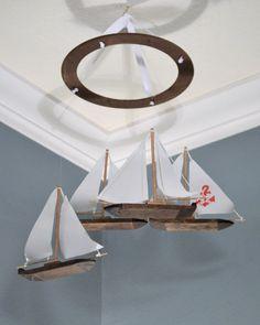 Nautical Nursery Mobile  Customizable by FlutterBunnyBoutique, $84.99