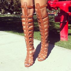 Trapped In Straps Gladiator Heels