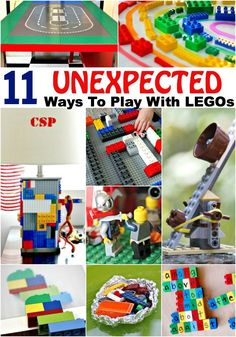 11 Unexpected Ways To Play With LEGOs, your kids have a huge collection of LEGOs? Try these 11 unexpected ways to play with LEGOs and add some diversity to their LEGO play! Lego Activities, Fun Activities For Kids, Games For Kids, Indoor Activities, Family Activities, Lego Duplo, Legos, Lego Instruction Books, Lego Challenge