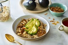 Coconut Stovetop Oats with Avocado, Chia, and Almond Butter recipe on Food52
