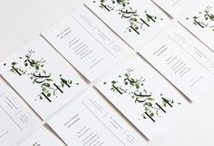 Botanical Inspired Wedding Invitations via oncewed.com