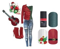 """Guess the Christmas Song - Jamberry Nails Game"" by kspantonjamon on Polyvore featuring Judith Leiber, American Vintage and Holiday Lane"