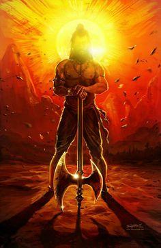 Parasurama - The avatar of Vishnu who cleansed the world of Kshatriyas 17 times with his mighty Axe Shiva Tandav, Shiva Art, Hindu Art, Rudra Shiva, Hindus, Angry Lord Shiva, Atlantis, Lord Hanuman Wallpapers, Lord Shiva Hd Images