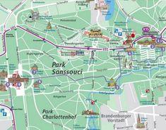 Potsdam tourist attractions map | Maps | Pinterest | City